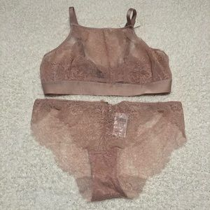 NWT Soma High Neck Bralette & Cheeky Bikini
